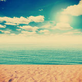 Vintage Beach and sand Stock Photo