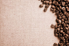 Vintage Beans Of Coffee Stock Photo