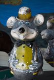 Vintage Bear. A vintage bear with hat, bowtie and buck teeth that is part of a merry-go-round royalty free stock images