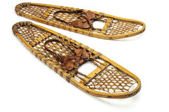 Vintage bear paw snowshoes Stock Photo