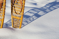 Vintage Bear Paw snowshoes Stock Images