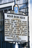 Vintage Bearskin Neck Welcome Sign Stock Photos