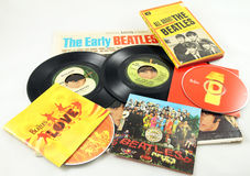 Vintage Beatles Photos stock