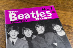 Vintage Beatles Monthly Book. LONDON, UK - JANUARY 13TH 2017: Close-up shot of issue number 7 of The Beatles Monthly Book, issued in February 1964, placed on a Stock Image