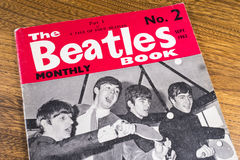 Vintage Beatles Monthly Book Stock Image