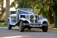 Vintage beauford wedding car Royalty Free Stock Image