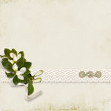 Vintage beautiful background with bouquet and with Stock Image
