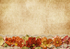 Vintage beautiful background with flowers Stock Images