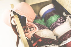 Vintage beautiful Bras Stock Images