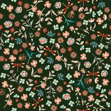 Vintage Beautiful liberty Seamless floral pattern. Background in. Small colorful flowers for textiles, fabrics, cotton fabric, covers, wallpaper, print, gift Royalty Free Stock Photos
