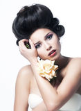 Vintage. Beauty portrait of lovely girl Royalty Free Stock Images