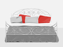 Vintage bed. Home textile. Royalty Free Stock Photography