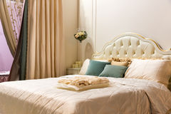 Vintage bedroom interior Royalty Free Stock Image