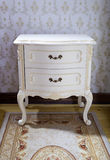 Vintage bedside table Stock Photo