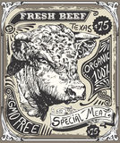 Vintage Beef Advertising Page Stock Image