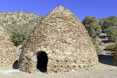 Vintage, Beehive shaped Charcoal Kilns, Death Valley National Park Royalty Free Stock Image