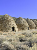 Vintage, Beehive shaped Charcoal Kilns, Death Valley National Park Royalty Free Stock Photos