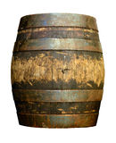 Vintage Beer Barrel. Isolated Of Vintage Grungy Old Wooden Beer Cask Or Barrel Royalty Free Stock Photography