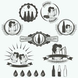 Vintage beer brewery emblems, labels Stock Photography