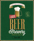 Vintage Beer Brewery Poster. Royalty Free Stock Photo