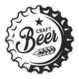 Vintage beer cap logo. With inscription and wheat ears isolated vector illustration vector illustration