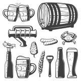 Vintage Beer Elements Collection royalty free illustration