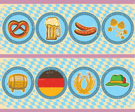 Vintage beer elements with oktoberfest symbol on o Royalty Free Stock Photography