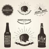 Vintage beer emblem Royalty Free Stock Photography
