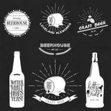 Vintage beer emblem Stock Photos