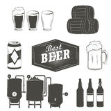 Vintage beer emblems, labels and design elements Royalty Free Stock Photo
