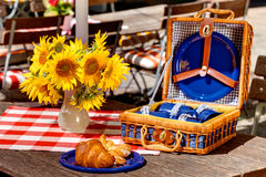 Vintage beer garden picnic Royalty Free Stock Images