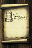 Vintage beer label Royalty Free Stock Images