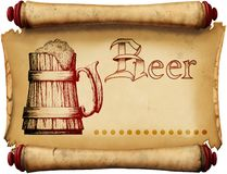 Vintage beer label Royalty Free Stock Photos