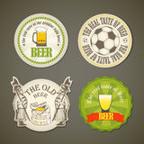 Vintage beer labels Stock Images
