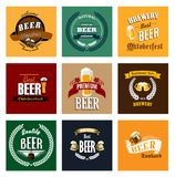 Vintage beer labels and emblems collection Royalty Free Stock Photography