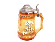 Vintage beer mug. Mug casts a slight shadow Stock Images