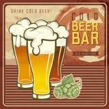 Vintage beer poster Royalty Free Stock Image