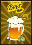 Vintage beer poster Royalty Free Stock Photography