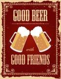 Vintage beer poster royalty free illustration
