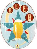 Vintage beer sign Royalty Free Stock Photography