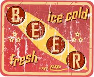 Vintage beer sign Royalty Free Stock Image
