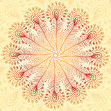Vintage beige abstract peacock feathers background Stock Images