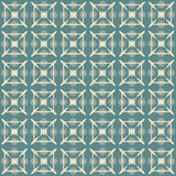 Vintage Beige and Blue Pattern Stock Images
