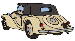 Vintage beige cabriolet. Hand drawn vector illustration Vector Illustration