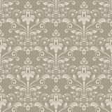 Vintage beige floral wallpaper. Vintage beige wallpaper damask flower pattern vector background Stock Photo