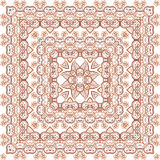 Vintage beige lacy ornate shawl vector pattern Stock Photo