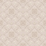 Vintage beige ornament, seamless pattern Royalty Free Stock Photos