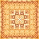 Vintage beige ornate vector square background Royalty Free Stock Image