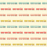 Vintage beige train pattern Royalty Free Stock Photography