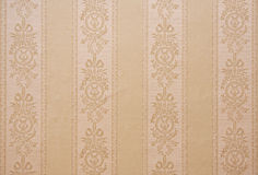 Vintage beige wallpaper Stock Photos